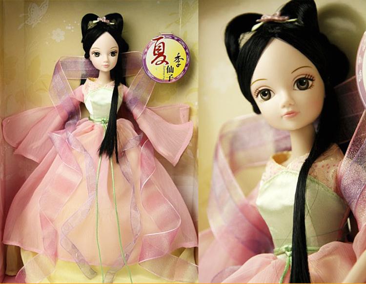 新款芭比娃娃可儿巴芘中国古装新四季仙子1123关节体