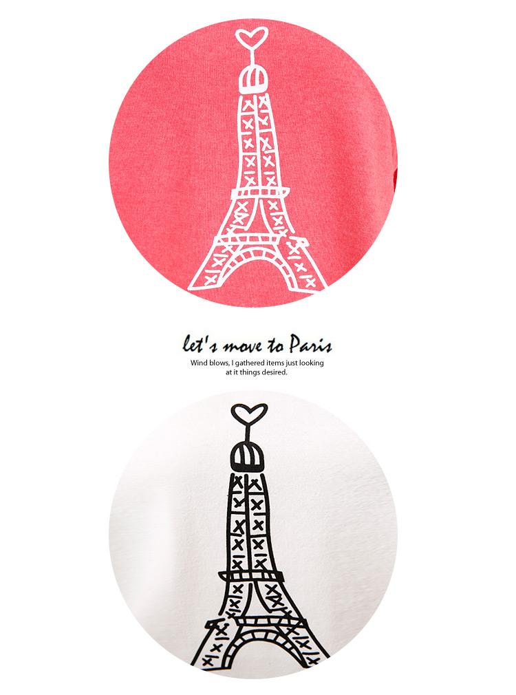 可爱手绘巴黎铁塔