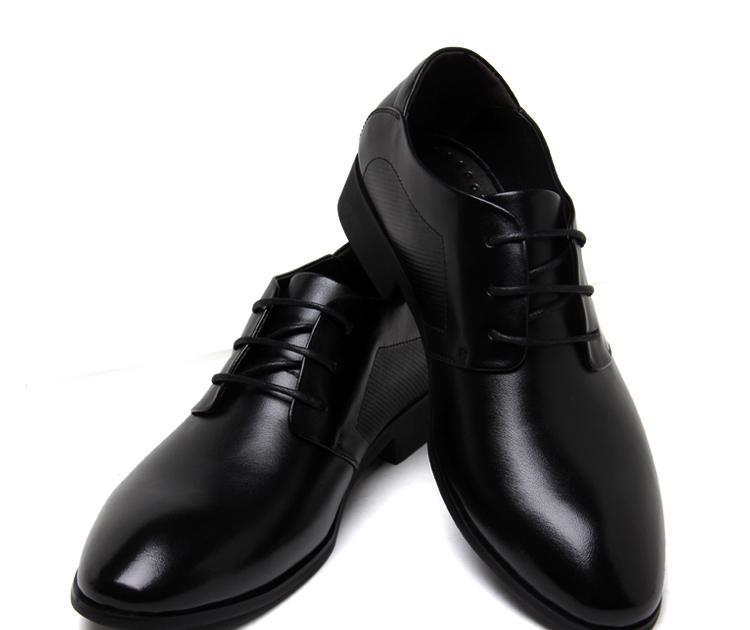 男士时尚潮流韩版英伦尖头商务正装皮鞋