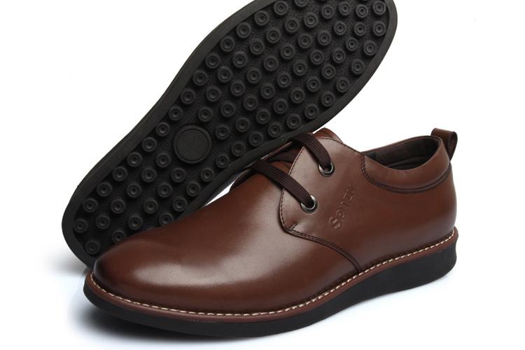 男士韩版时尚潮流日常休闲皮鞋真皮