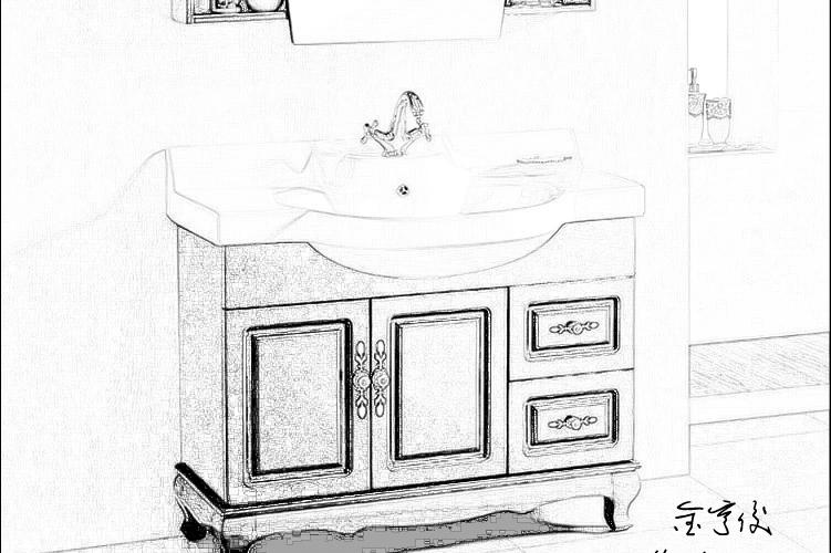 浴室立面图手绘