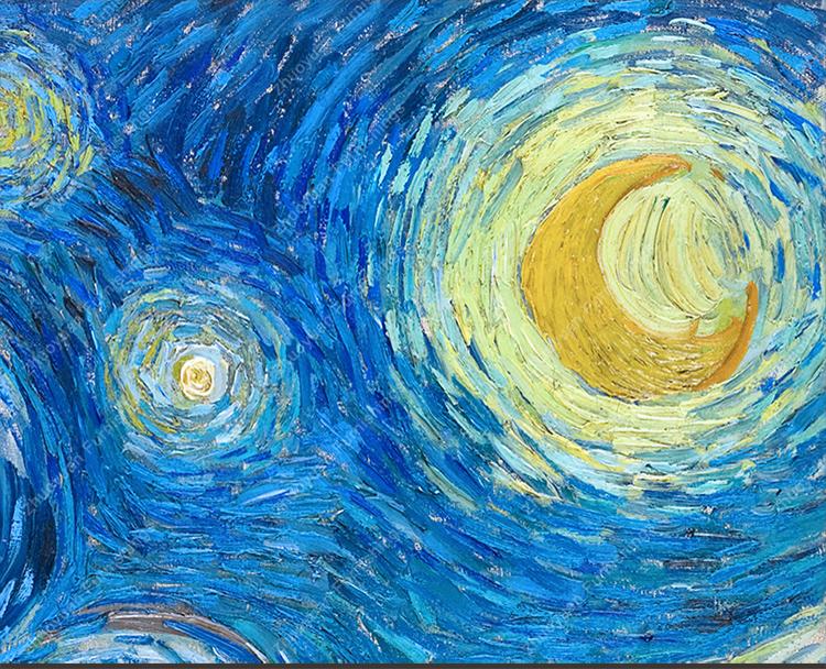 欣赏了梵高的 星空 或 向日葵 你想象到了一幅怎样的画面