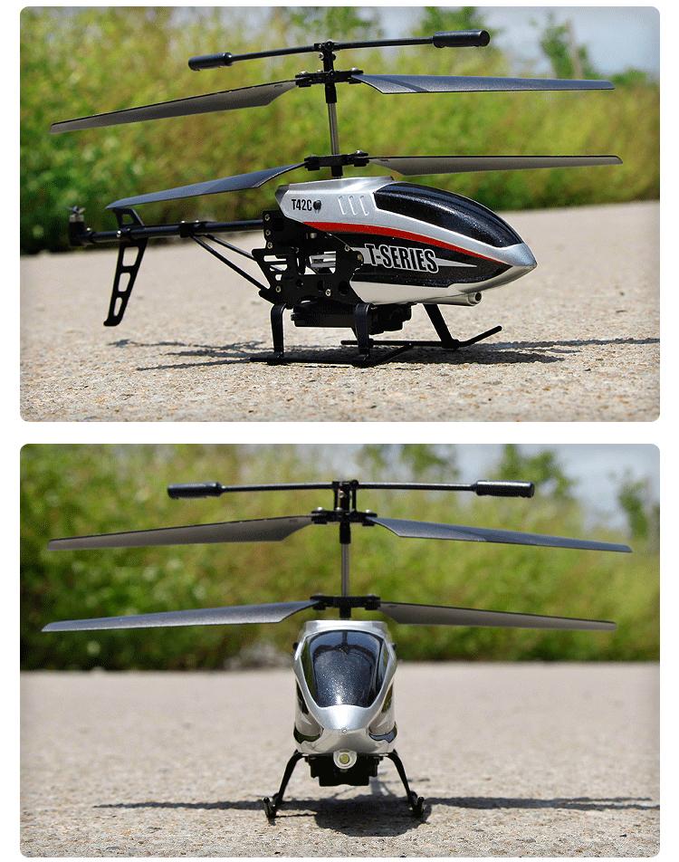 美嘉欣 带针孔摄像头遥控飞机 金属超耐摔直升飞机 儿童节高档礼物 银