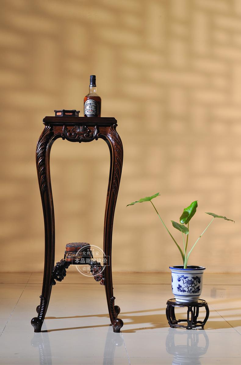 允典红木家具 花梨木欧式宫廷典藏达芬奇08 方花架 榫卯结构 花梨木