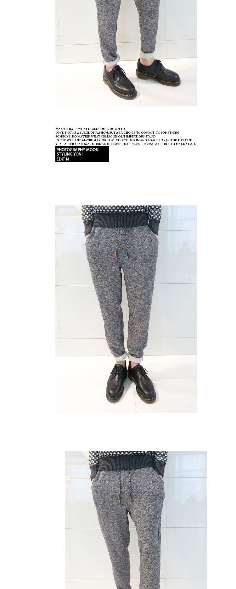 djs 夏季新款 韩版修身长裤男士休闲裤彩色抽绳运动裤