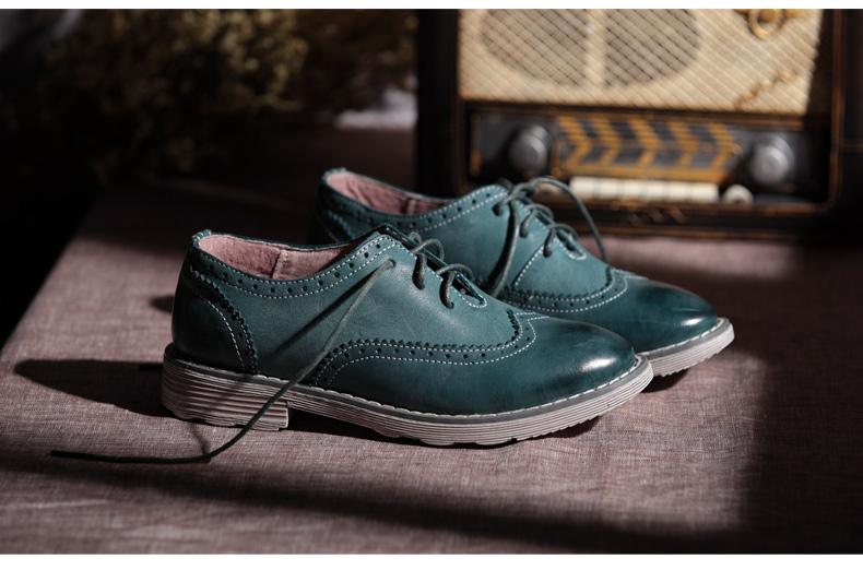 2013新款女鞋 布洛克雕花英伦风休闲鞋