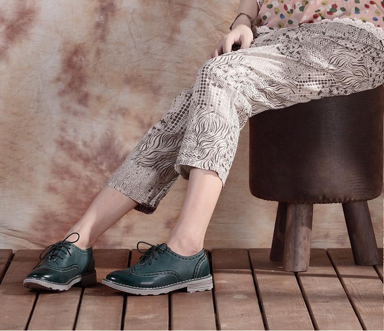 女鞋英伦风复古鞋布洛克真皮系带休闲鞋2013款单