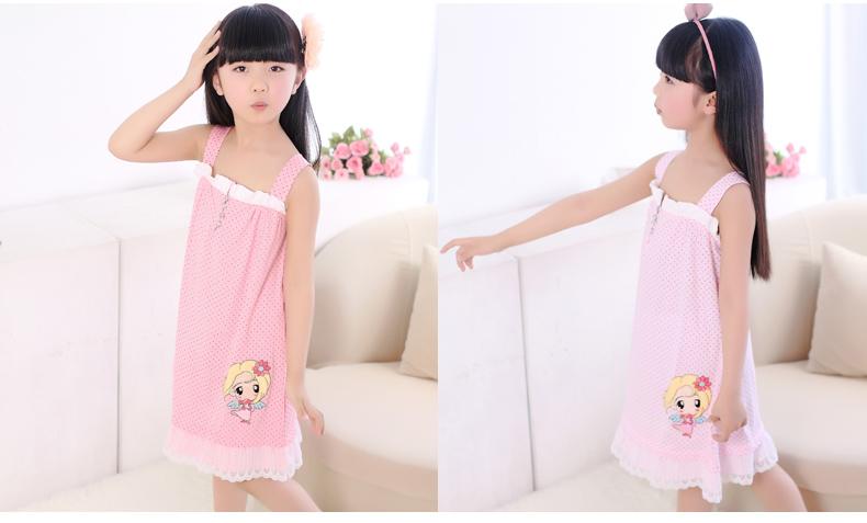 儿童睡衣女童纯棉睡裙