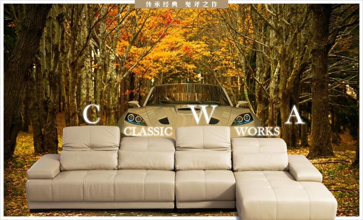 现代简约欧式时尚进口真皮沙发