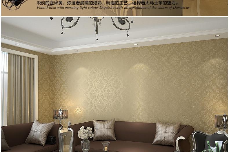 无纺布墙纸欧式撒金客厅沙发电视墙背景墙
