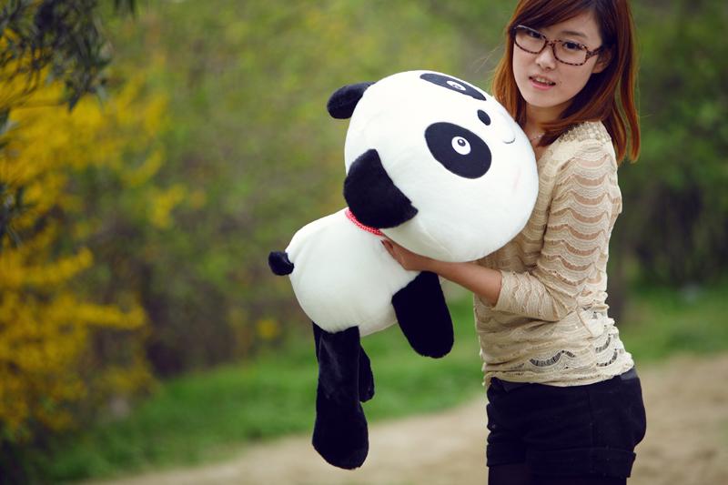 卡通熊猫黑白壁纸