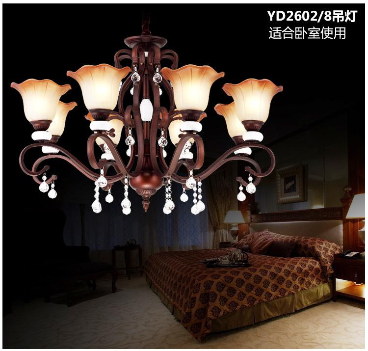 豪华树脂水晶吊灯饰欧式复古客厅灯餐厅吊灯饰灯具