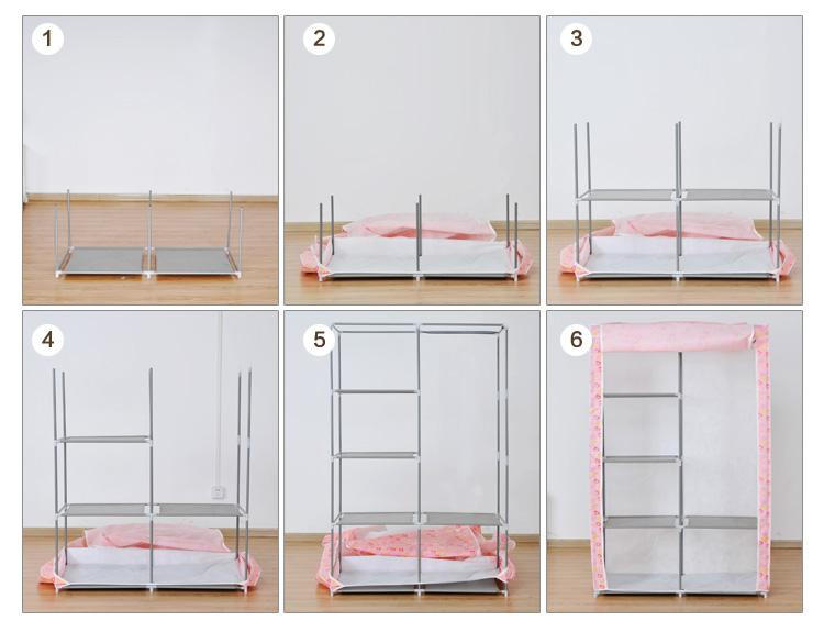 简易衣柜组装步骤图