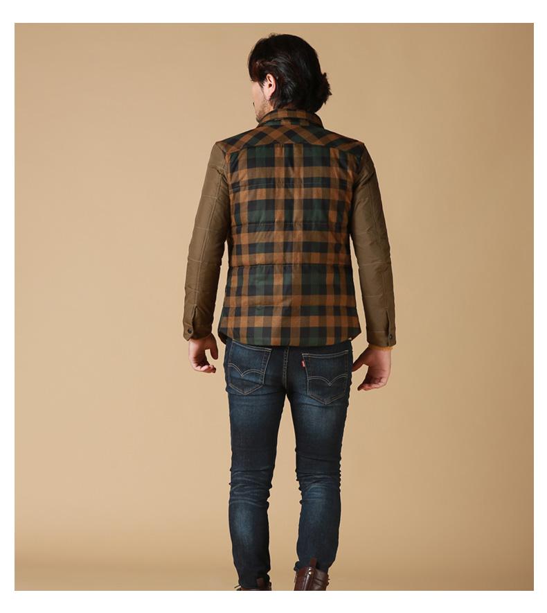 棕色格子衬衫搭配