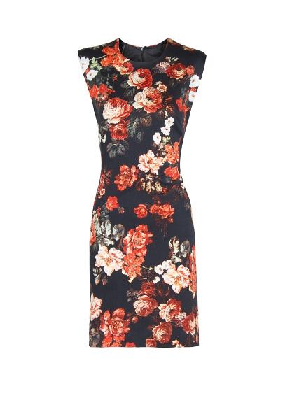 mango2013|花纹铅笔连身裙|13009045 黑色 l