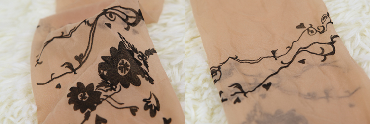 时尚魔头杂志款字母爱心花藤五角星蝴蝶纹身丝袜连裤袜薄款15d 艾媄