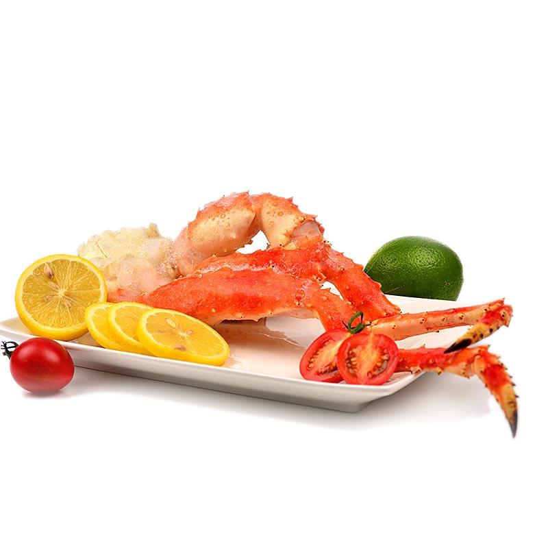 悦海上品美国进口海鲜水产 阿拉斯加帝王蟹腿500g冰鲜冷冻螃蟹腿 顺丰包邮