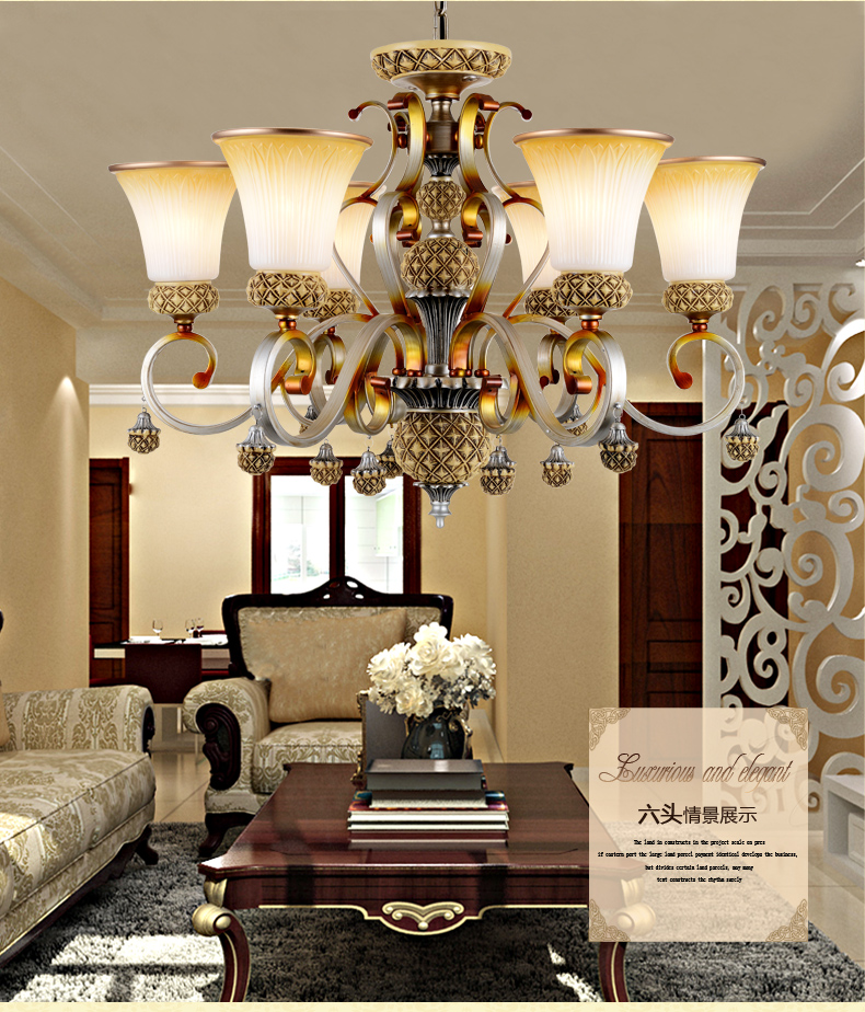 欧式树脂田园吊灯卧室灯客厅灯餐厅灯具灯饰
