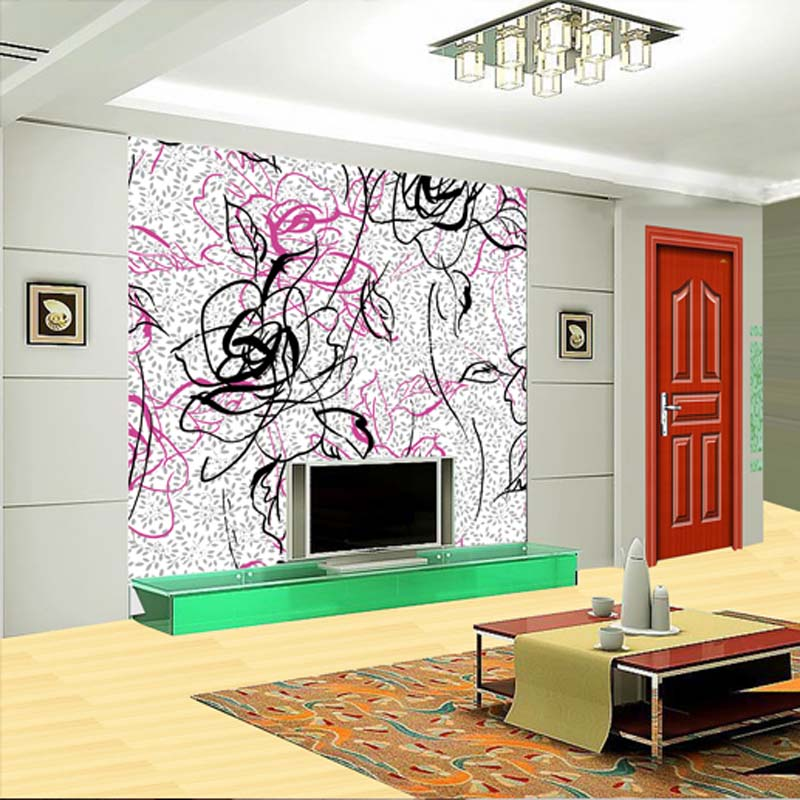 无纺布卧室客厅欧式壁纸图片