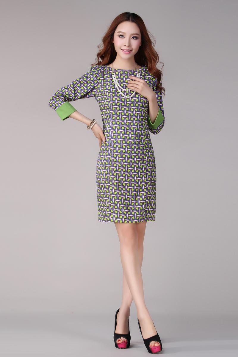 工装风立体条纹连衣裙