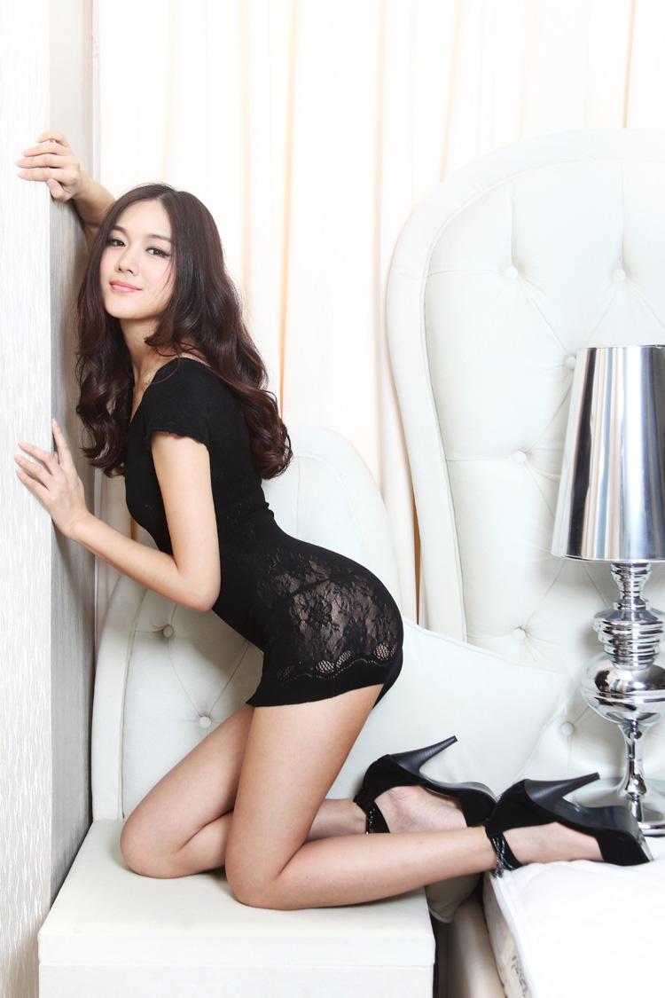 雅典女神露肩包臀情趣内衣蕾丝丝袜