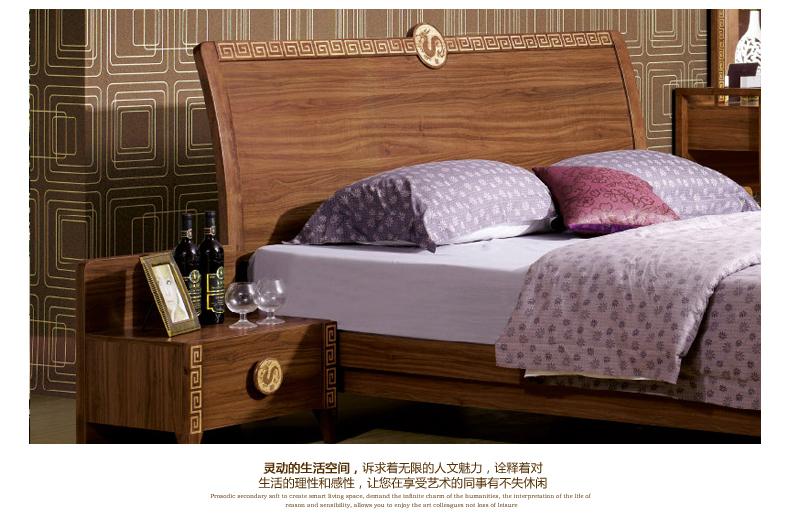 8 木板床 中式家具 图色 1.5米*1图片