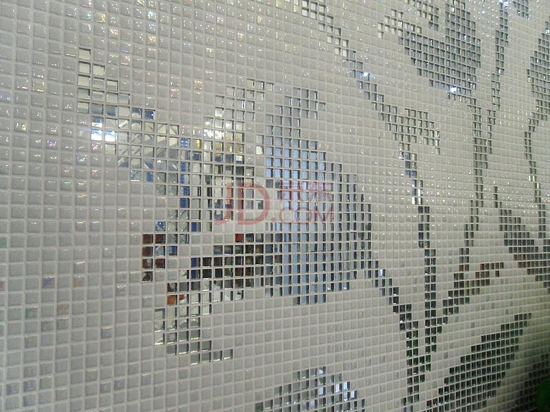 马赛克拼图背景墙电视沙发餐厅银镜郁金香
