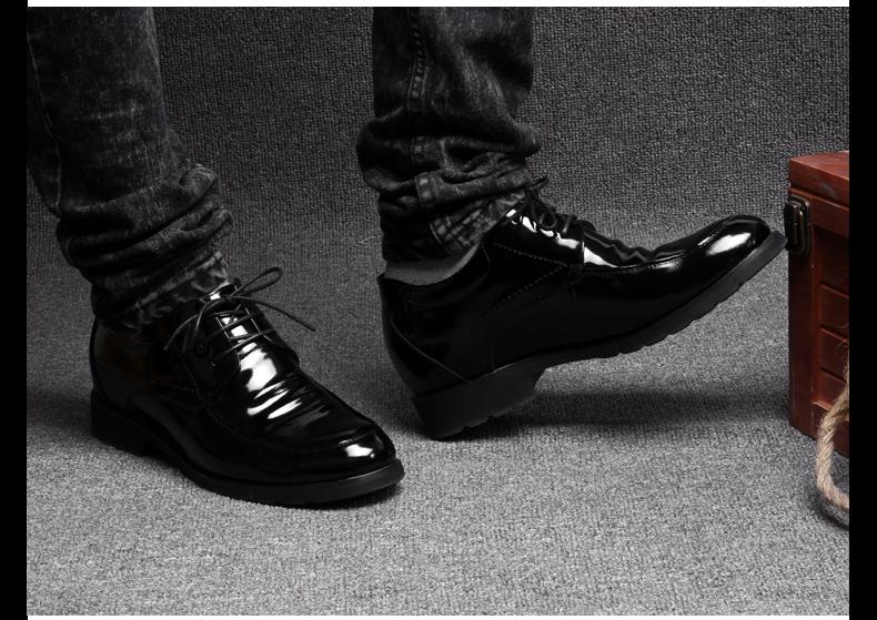 菲力鸟正品内增高鞋男式真皮鞋