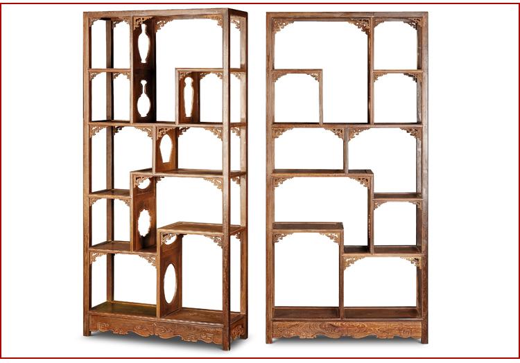 博古恒韵红木家具 实木多宝格置物架储物家具 中式古典家具 jcm002