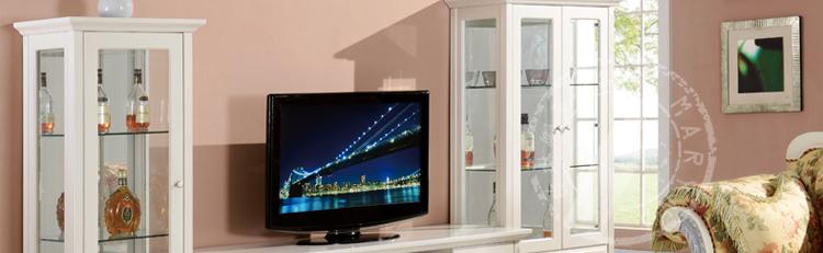 德家 韩式家具田园1 酒架 单门酒柜 玻璃 柜子 吧台 装饰柜 边柜