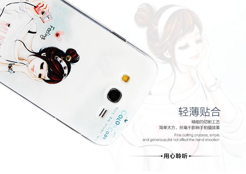 韩国插画水钻 少女彩绘