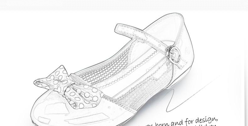 儿童卡通鞋子简笔画