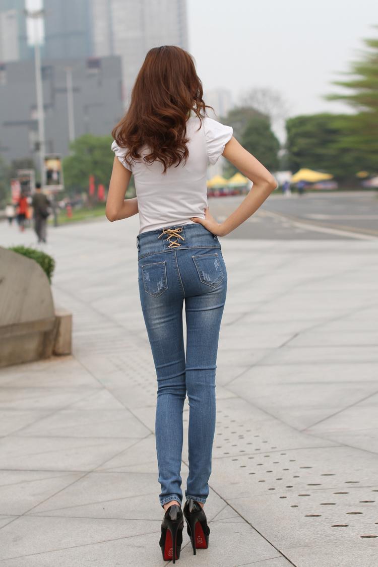 牛仔裤小脚铅笔裤