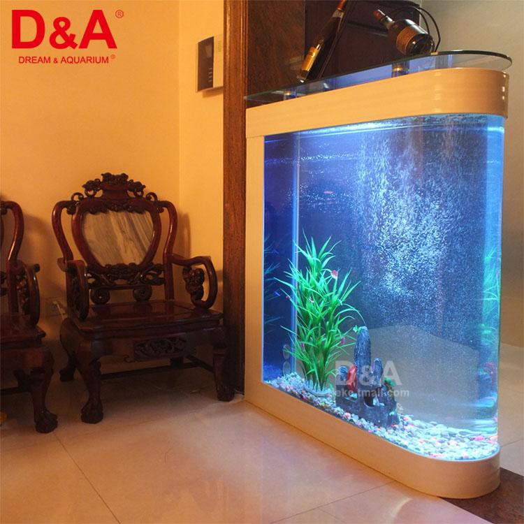 鱼缸标准配置 玻璃台面,4个支撑柱,缸体,水循环/过滤系统(背部