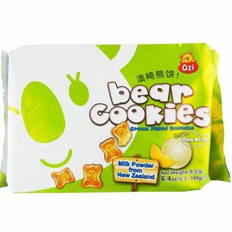 香港零食 ozi澳崎熊灌心饼干 可爱动物形状下午茶甜品