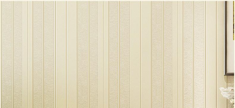 格林威尔 简约欧式条纹壁纸电视背景墙