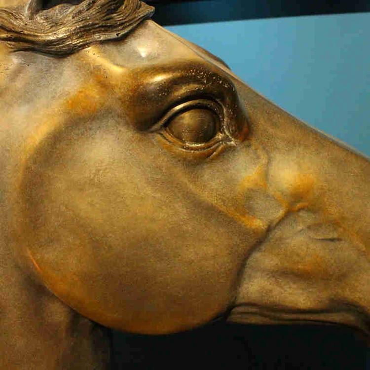 米戈家居 欧式饰品摆件 玄关装饰摆设 大型马头雕塑 大马头摆件图片