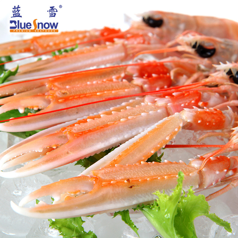 蓝雪海鲜 即食冷冻挪威龙虾  海螯虾刺身 16-20尾/kg 3斤/礼盒