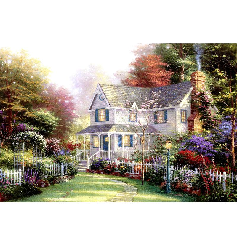 亲子日 拼图1000木质拼图 成人益智拼图玩具 风景油画 装饰画 梦幻