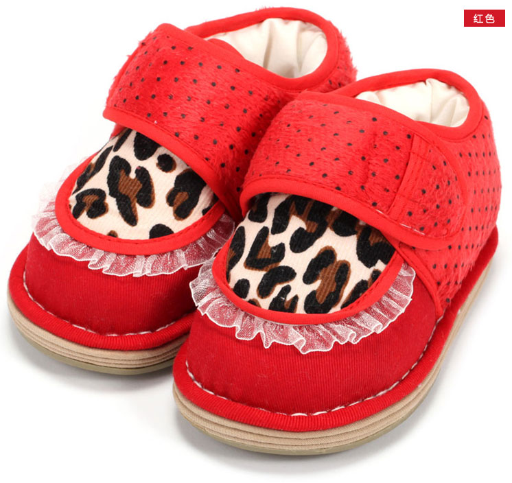 蓝贝璐 冬季宝宝学步鞋婴幼儿童纯棉手工布鞋 棉鞋 l3