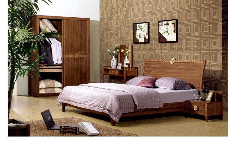 木板床 中式家具 图色图片