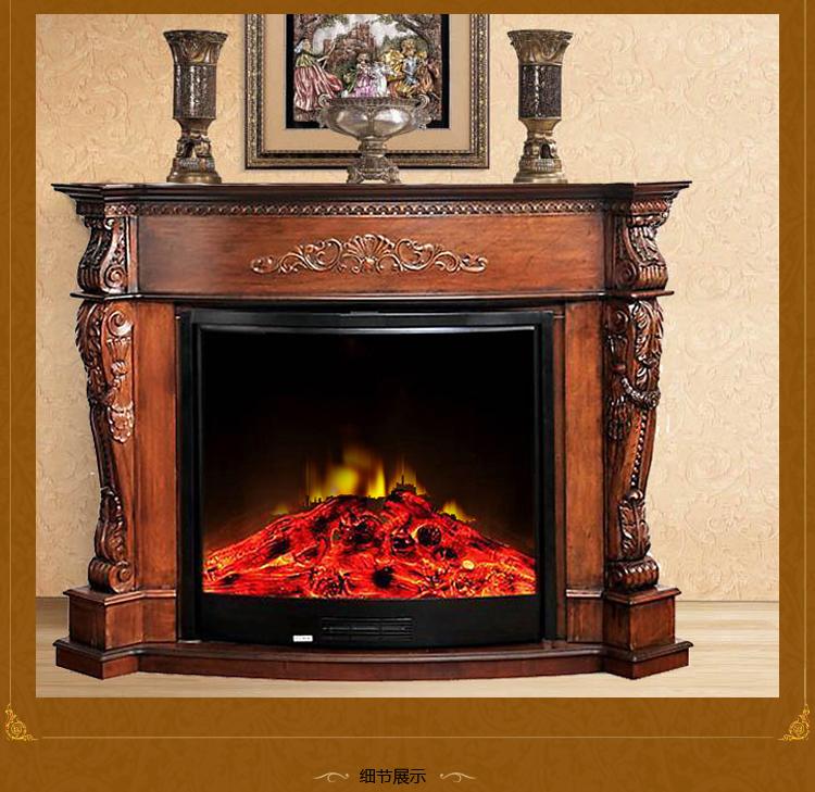 格莱亚gly欧式仿燃木取暖电壁炉套餐 炉架gly-a12 炉芯a12 欧式家具电图片
