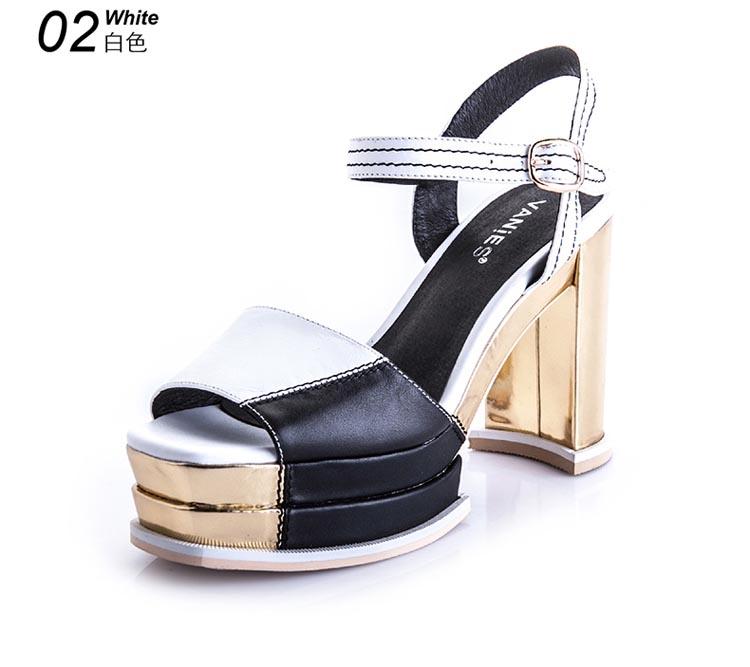 曼妮诗vanies【满200减10元】新款女鞋罗马风凉鞋