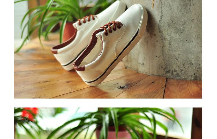 白色帆布鞋男鞋男士英伦