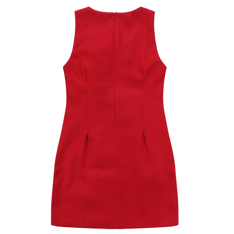 [货到付款]连衣裙女无袖春夏秋冬款毛呢背心裙