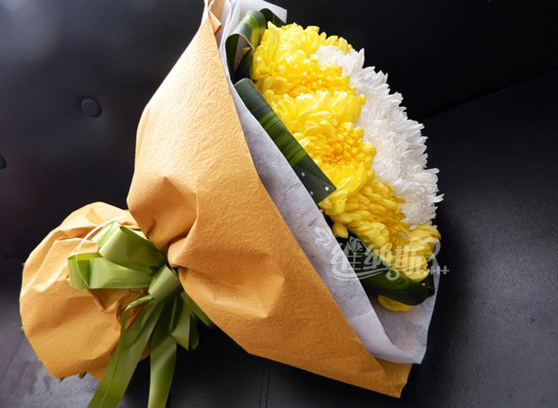 包装祭祀花束步骤图