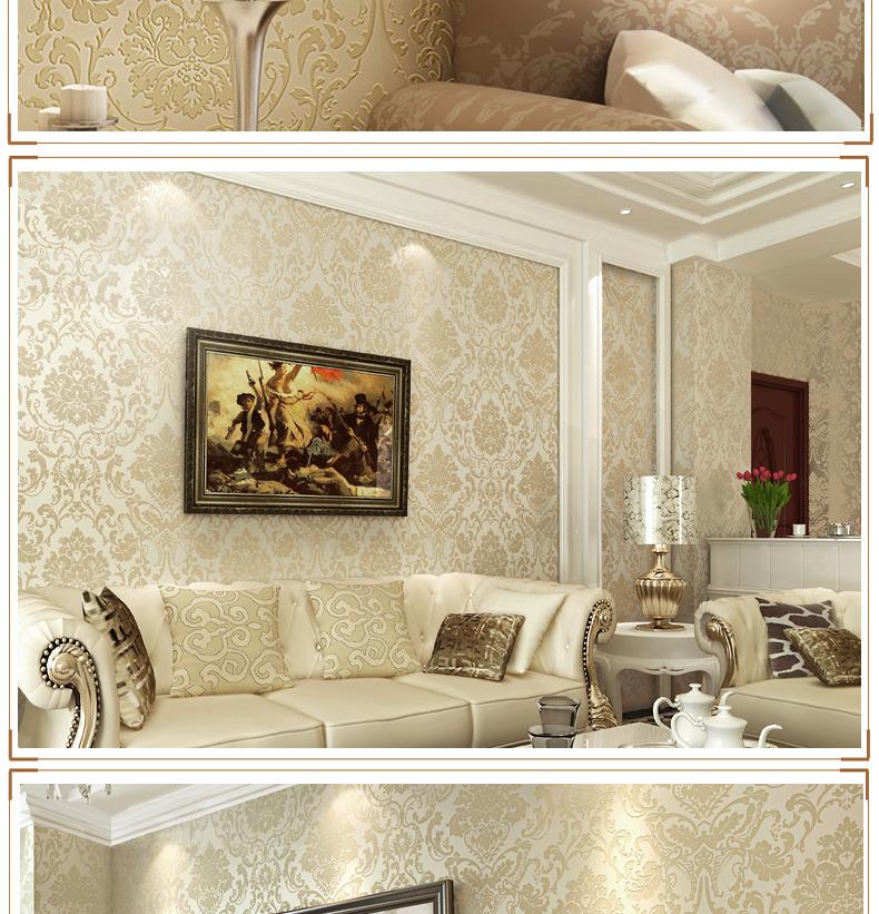 【货到付款】多美正无纺布墙纸 欧式大花客厅壁纸 电视背景墙纸 5.图片