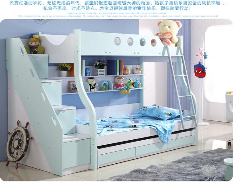西楚新款双层床儿童家具套房子母床高低床上下床母子