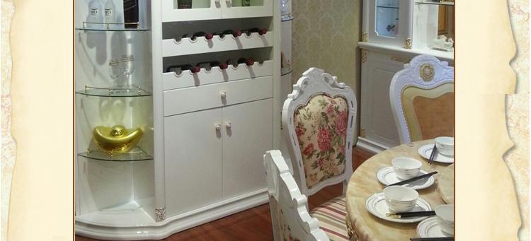 简约欧式客厅玄关柜法式隔断柜实木雕花酒柜欧式间厅柜吧台门厅柜