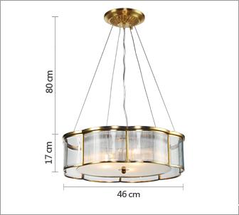 奥朵吊灯欧式复古铜灯饰餐厅灯客厅卧室饭厅灯具cl